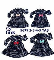 Дитяче трикотажне плаття для дівчинки Якір розмір 2-5 років, темно-синього кольору