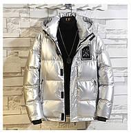 Чоловіча зимова непромокаємий куртка пуховик , срібло. РОЗМІР 44-52, фото 1