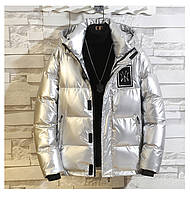 Мужская зимняя непромокаемая куртка пуховик , серебро. РАЗМЕР 44-52, фото 1