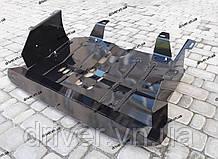 Захист двигуна Fiat Doblo 2001-2009 (двигун+КПП), з боковими пластинами