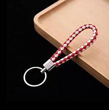 Брелок для ключей красный + белый - длина 12см