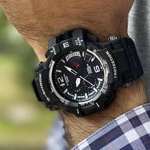 Чоловічий наручний годинник Casio G-Shock GPW-1000 Protection Black-Silver