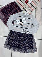 Дитяче трикотажне плаття для дівчинки Бджілка розмір 2-5 років, колір уточнюйте при замовленні