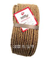 Канат веревка джутовая 6 мм х 100 м - пеньковый - Украина