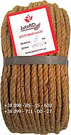 Канат веревка джутовая 8 мм х 50 м - пеньковый - Украина, фото 1
