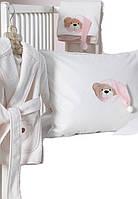 Karaca Home Набор в ванную Bear розовый для малышей