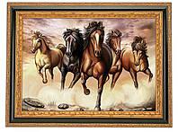 """Схема вишивки бісером чи хрестиком коні """"Табун"""""""