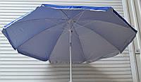 Зонт круглий (1.8 м) з срібним напиленням, нахил, пластикова спиця