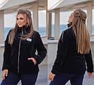 Куртка жіноча демісезонна батал NOBILITAS 50 - 56 сіра плащівка (арт. 21033), фото 2