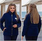 Куртка жіноча демісезонна батал NOBILITAS 50 - 56 сіра плащівка (арт. 21033), фото 3