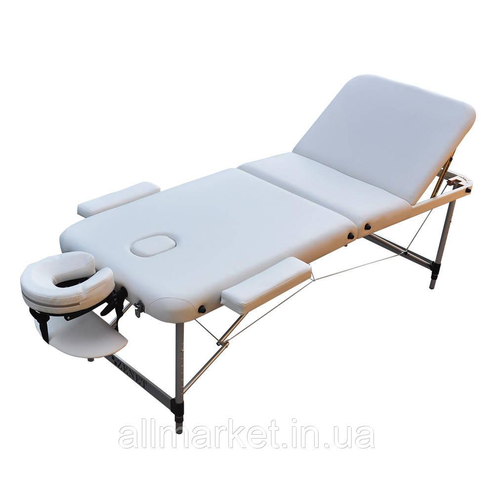 Масажний стіл складний ZENET ZET-1049 WHITE розмір M ( 185*70*61)