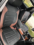 Чохли на сидіння Мітсубісі Аутлендер Спорт (Mitsubishi Outlander Sport) модельні MAX-L з екошкіри, фото 8