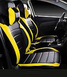 Чохли на сидіння Мітсубісі Аутлендер Спорт (Mitsubishi Outlander Sport) модельні MAX-L з екошкіри, фото 10