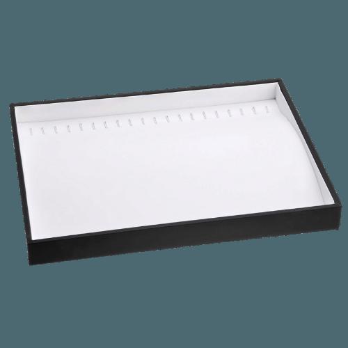 Ювелирный планшет для браслетов черно-белый экокожа