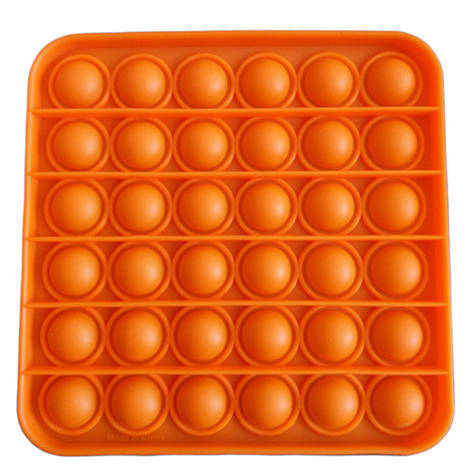 Опт Pop It Антистресс Игрушка - (Поп Ит - Попит - Popit) - Оранжевый квадрат, фото 2