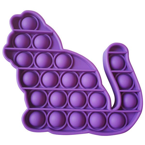 Опт Pop It Антистресс Игрушка - (Поп Ит - Попит - Popit) - Фиолетовый Котик