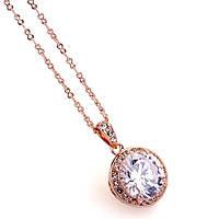Кулон ВОСХИЩЕНИЕ ювелирная бижутерия золото 18К декор кристаллы Swarovski
