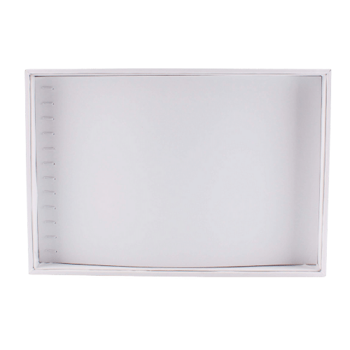 Ювелирный планшет для цепочек белый экокожа