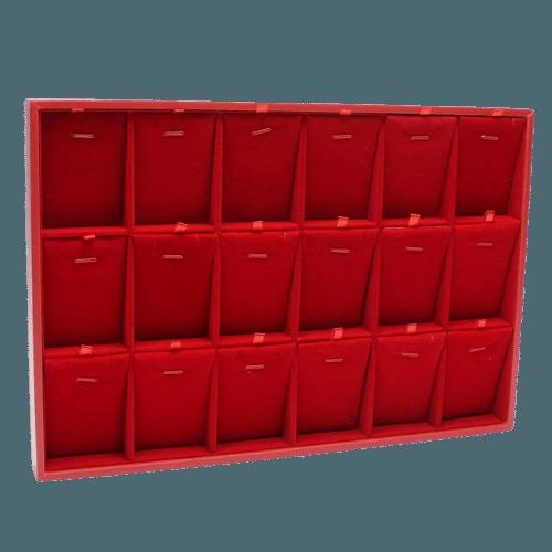 Ювелирный планшет для наборов красный