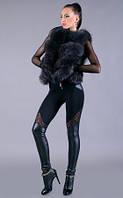 Женские лосины №77, дайвинг (кожаные вставки)