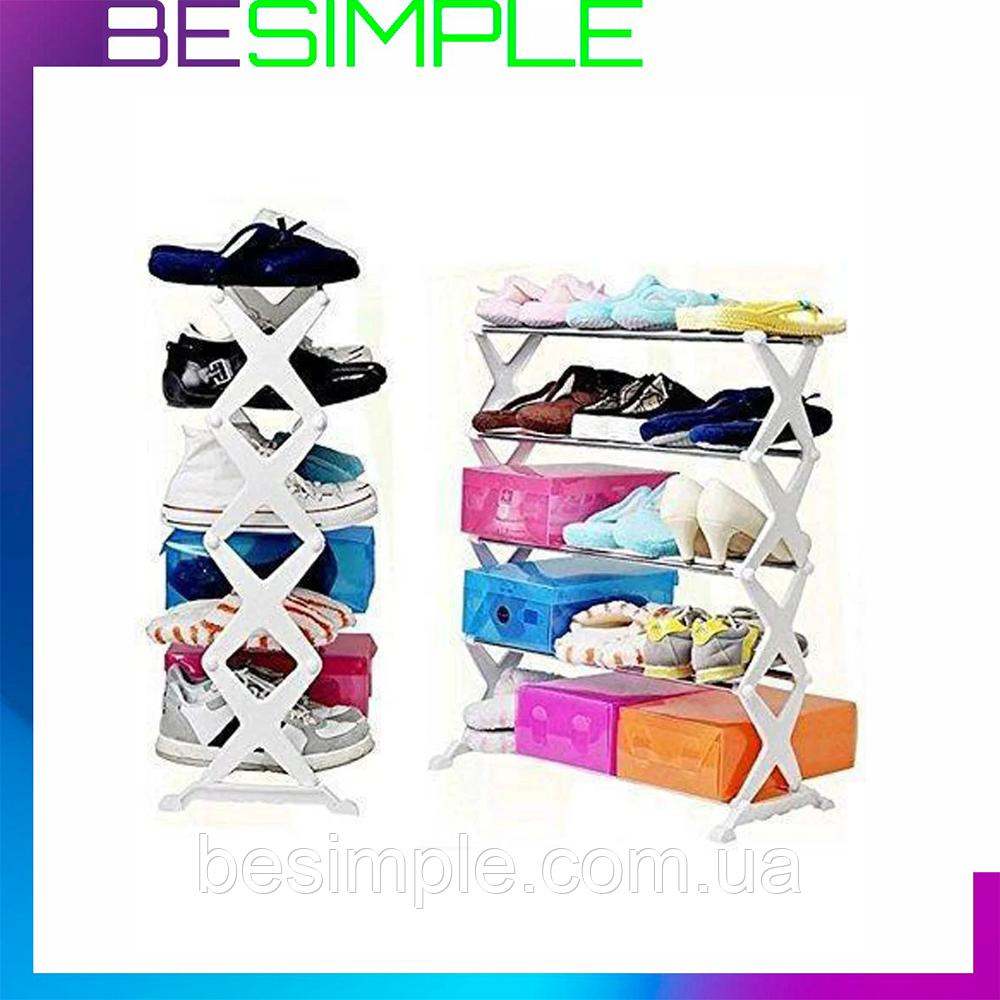 Полиця-органайзер для взуття shoe rack / Модульний органайзер