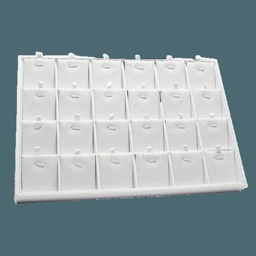 Ювелирный планшет для наборов белый экокожа
