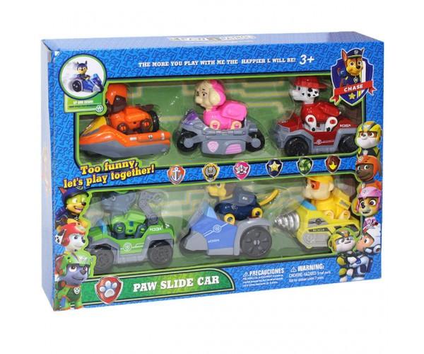 """Набор игрушек """"Щенячий патруль"""" Фигурки на своем транспорте G2010"""