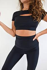 Женская фитнес одежда из бифлекса Lux-Form топ с декольте