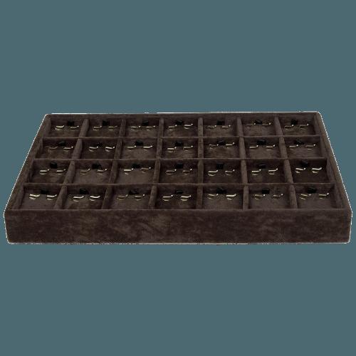 Ювелирный планшет для серег коричневый