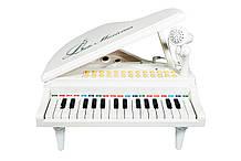 """Дитяче піаніно синтезатор Baoli """"Маленький музикант"""" з мікрофоном 31 клавіша (білий)"""