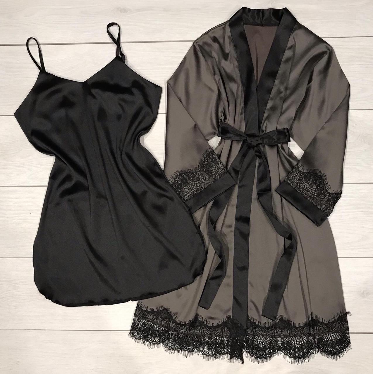 Комплект двійка халат і пеньюар.