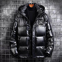 Чоловіча зимова непромокаємий куртка пуховик , чорний. РОЗМІР 44-52, фото 1