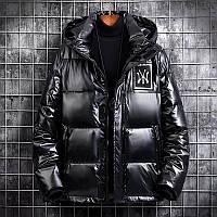 Мужская зимняя непромокаемая куртка пуховик , чёрный. РАЗМЕР 44-52, фото 1
