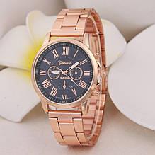 Модные женские наручные часы Женева металлические, стильные и красивые часики Geneva