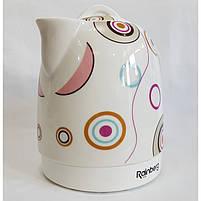 Чайник електричний Rainberg RB-906 керамічний, дисковий,1500 Вт, 1.8 літра 5b, фото 6