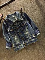 Детская джинсовая куртка микки