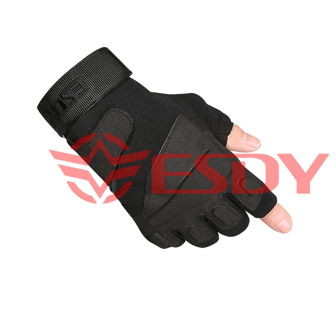 Тактические перчатки беспалые ESDY Черные