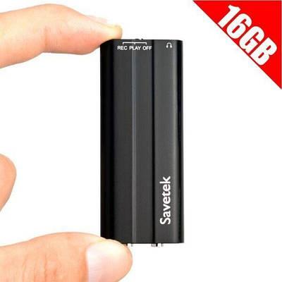 Мини диктофон с активацией голосом Savetek 600, 16 Гб, 50 часов записи