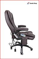 Кресло офисное массажное Avko кресло компьютерное с функцией массажа для офиса кресло с подогревом коричневое