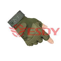 Тактические перчатки беспалые ESDY Олива