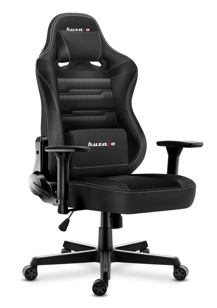 Компьютерное кресло для геймера HUZARO FORCE 7.7 Black MESH