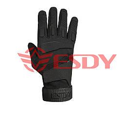 Тактичні рукавички полнопалые ESDY Чорні
