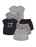 Стильні літні костюми - футболка і шортики Зебри для дівчинки Джордж (поштучно)