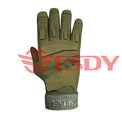 Тактичні рукавички полнопалые ESDY Олива