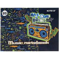 Тетрадь для нот А5, 20 л, Make some noise