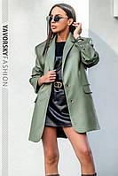 Піджак Yavorsky Дейзі жіночий трендовий з еко шкіри оверсайз крою різні кольори Py305