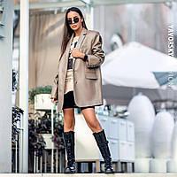 Піджак Yavorsky Дейзі жіночий оверсайз з еко шкіри на гудзиках різні кольори Py306