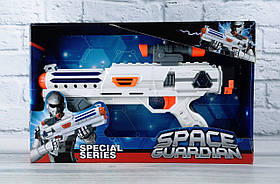 Пістолет на батарейках Світло Звук М'які снаряди В коробці 3118А-1 88908