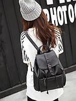 Рюкзак молодіжний для дівчини. Рюкзак міський жіночий кожзам чорний 1455818740