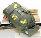 Рюкзак туристичний зелений великий Lijiebao 90 л., фото 4